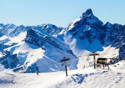 sníh, zima, hory, studené, LED, modrá obloha, ledovec, krajina