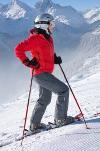 snow, winter, person, skier, skier, mountain, adventure, sport
