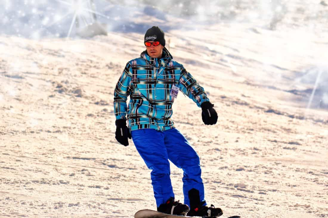 человек, низ, лыжи, приключение, снег, горы, спорт, зима, холод