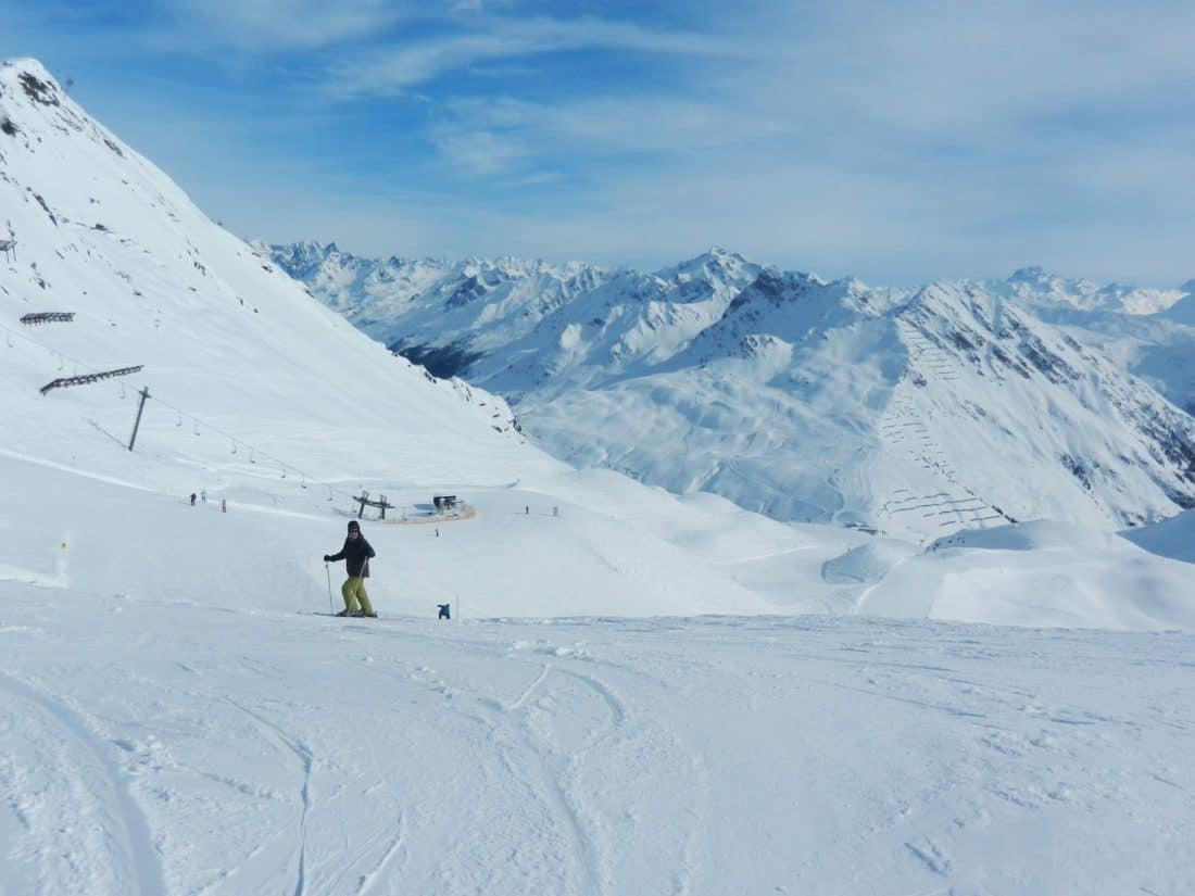 snow, winter, mountain, sport, adventure, cold, skier, ice, landscape