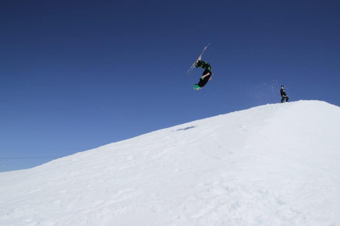 점프, 스포츠, 힐, 모험, 눈, 겨울, 산, 감기, 스키, 스노우 보드, 모험