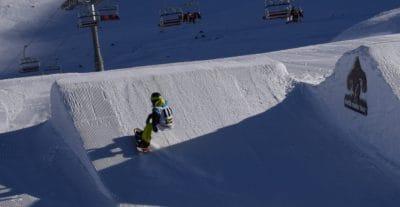 neve, inverno, ghiaccio, sciatore, persone, snowboard, freddo, montagna