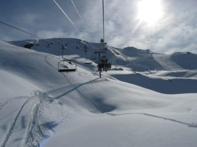 snow, sunshine, winter, cold, mountain, ice, skier, chairlift