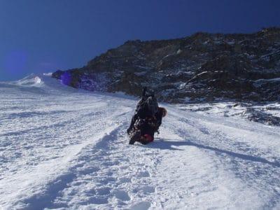 Schnee, Winter, Berg, Kälte, Eis, blauer Himmel, Berg, Gletscher, Sport, outdoor