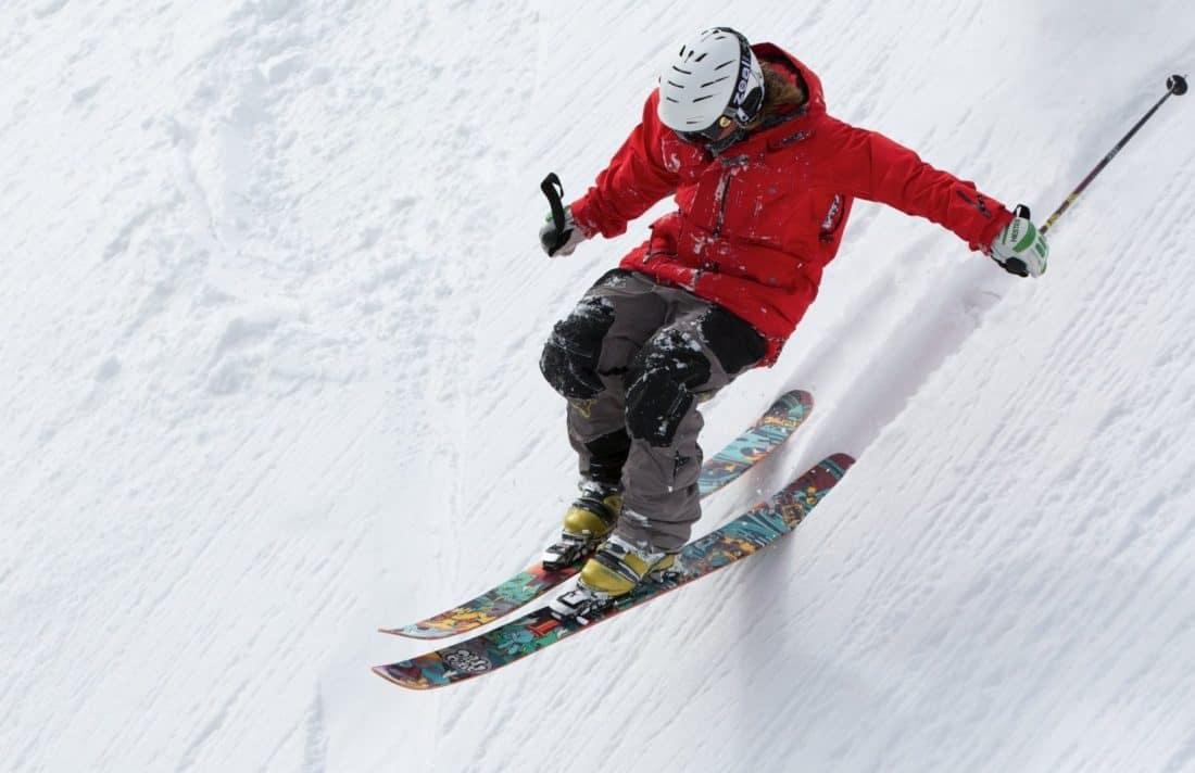 snow, downhill, jump, extreme sport, skiing, winter, adrenaline, sport, mountain