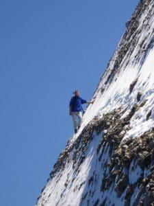 ekstrem sport, klatre, opstigningen, mountain, sne, vinter, kolde, sky, udendørs