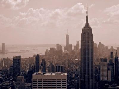 grad, centar grada, arhitektura, zgrada, toranj, smoga, Panorama grada, toranj, urbane