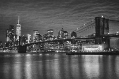 river, building, monochrome, city, architecture, water, bridge, cityscape