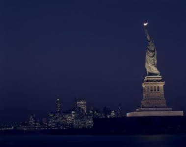 arhitekture, grad, noć, skulptura, orijentir, tamno