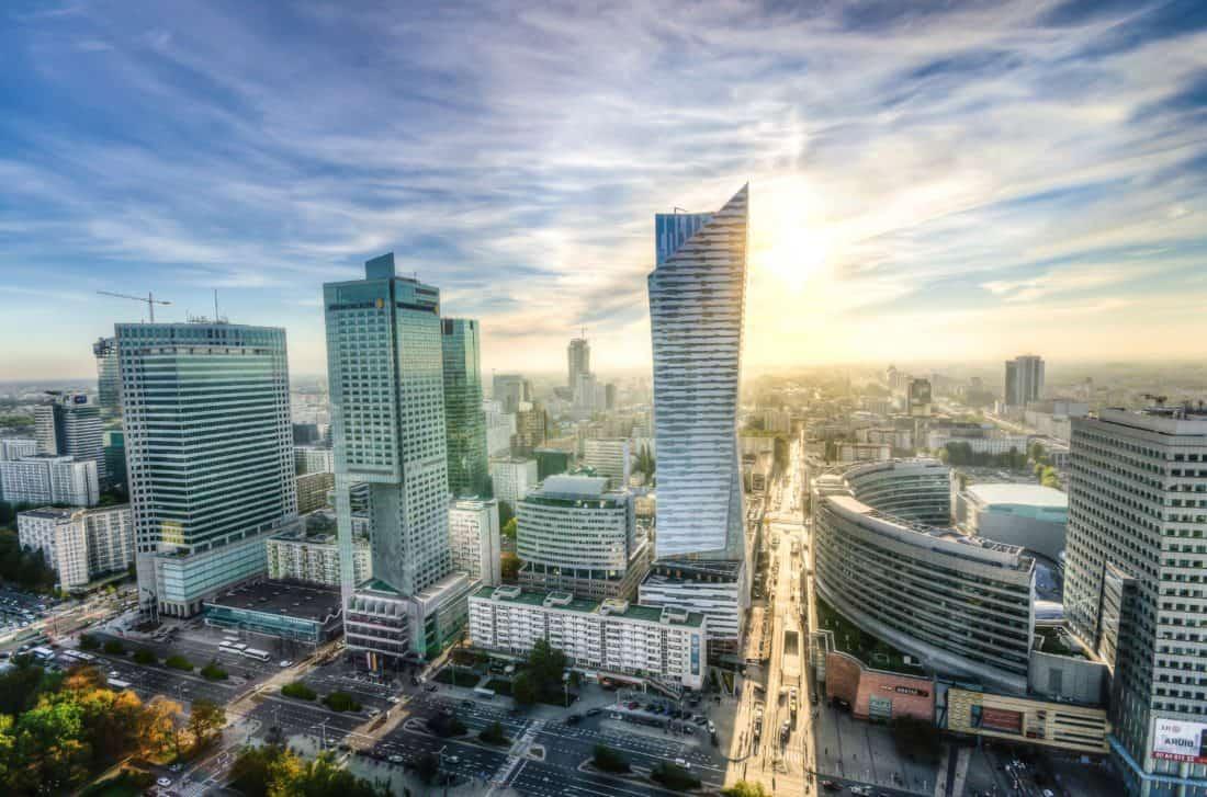 bâtiment, soleil, métropole, ville, centre ville, paysage urbain, architecture, moderne, urbain