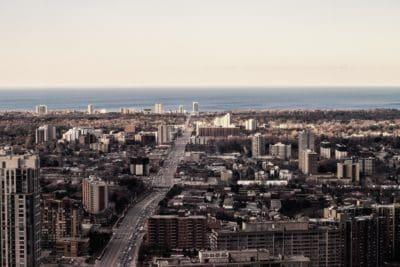 grad, gradski pejzaž, nebo, arhitektura, panoramski, urbana, panorama