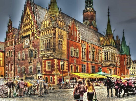 architecture, city, town, photomontage, urban, street, palace, residence