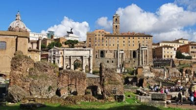 arquitectura, ciudad, edad, antigua, histórica, ciudad, hito