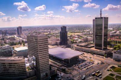 city, blue sky, architecture, metropolis, town, cityscape, urban, modern, downtown