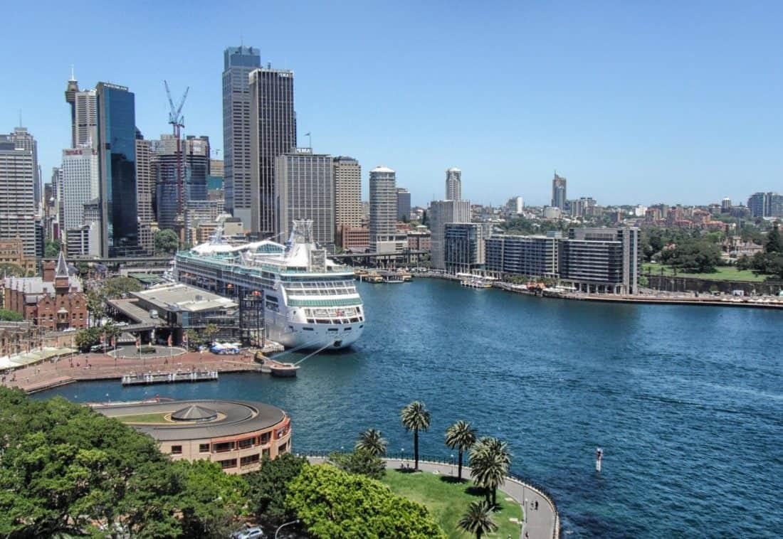 city, water, architecture, cityscape, ship, building, cargoship, travel, metropolis, harbor, waterfront