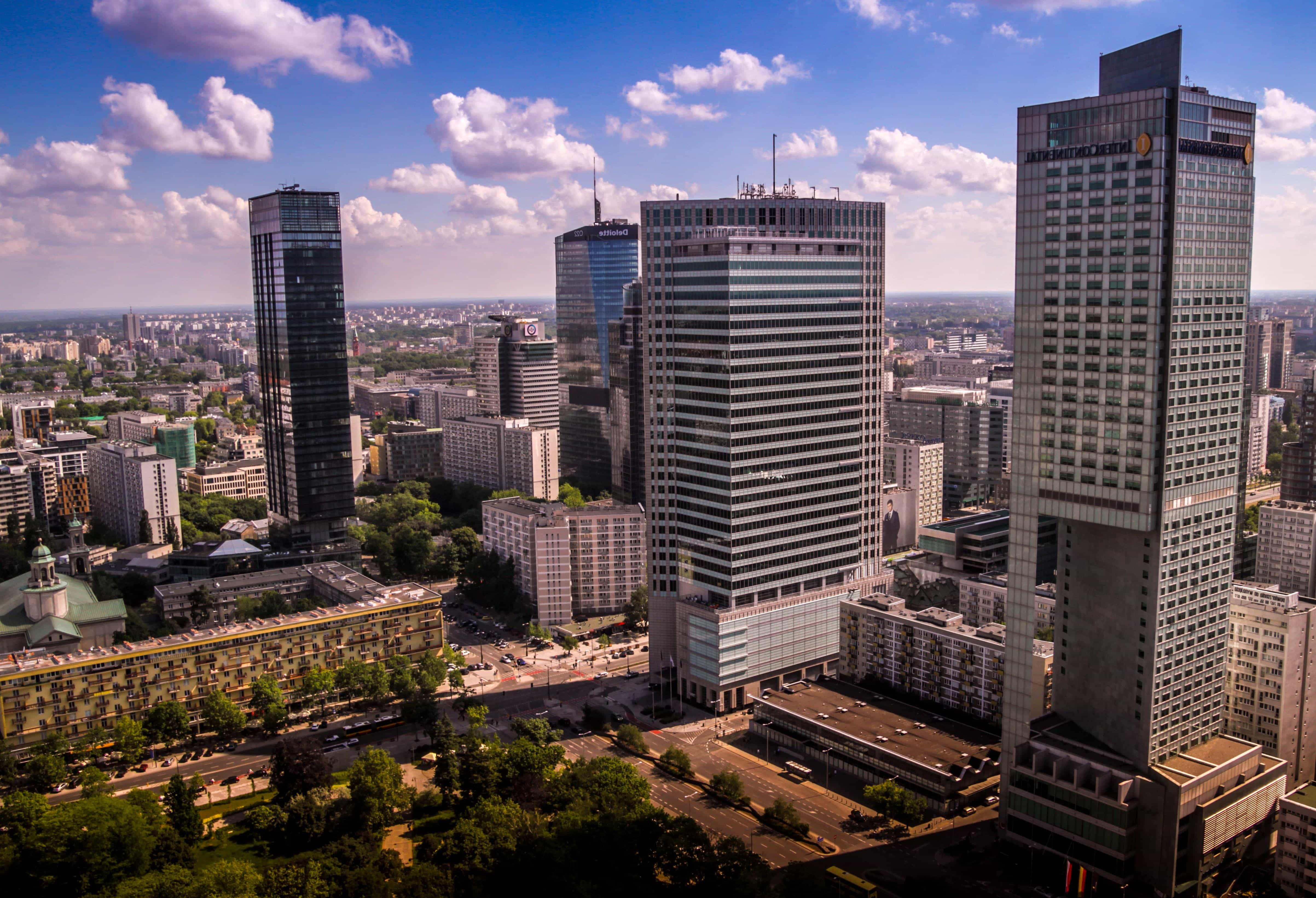 city, architecture, building, blue sky, metropolis, cityscape, downtown,  modern, urban