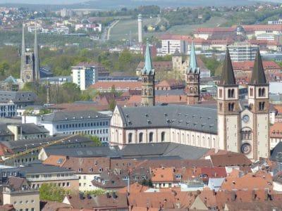 punkt orientacyjny, miejski, centrum, miasto, miasto, architektura, dach