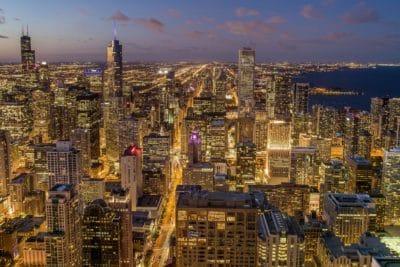 bâtiment, crépuscule, métropole, ville, paysage urbain, centre ville, architecture, urbain, crépuscule