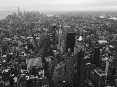 ville, ciel, smog, paysage urbain, architecture, personnes, urbain, centre-ville