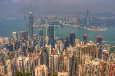 city, cityscape, building, metropolis, downtown, architecture, harbor, dusk