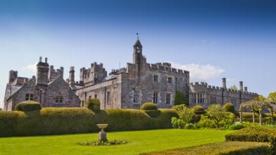 castle, architecture, lawn, garden, grass, Gothic, palace, fortification