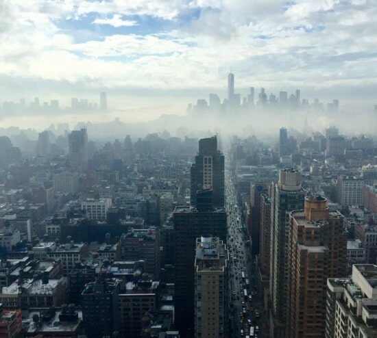 city, cityscape, downtown, architecture, smog, urban, mist, smog