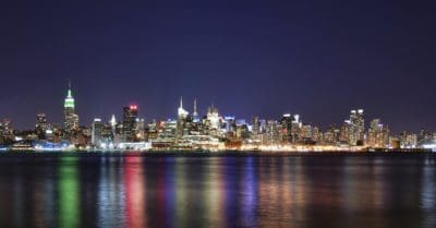 city, cityscape, water, architecture, night, bay, modern, urban, downtown
