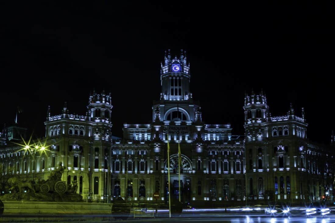 architecture, city, night, palace, exterior, building, facade, residence