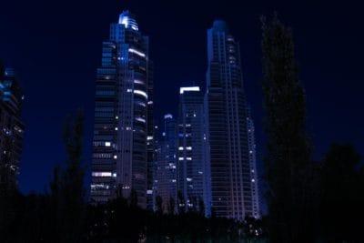grada, arhitektura, Panorama grada, noć, tama, centar grada, urbane, toranj