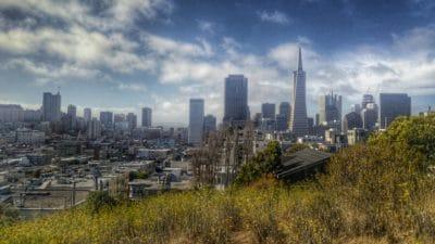 Stadt, Stadtbild, Architektur, Stadt, Innenstadt, Landschaft, blauer Himmel