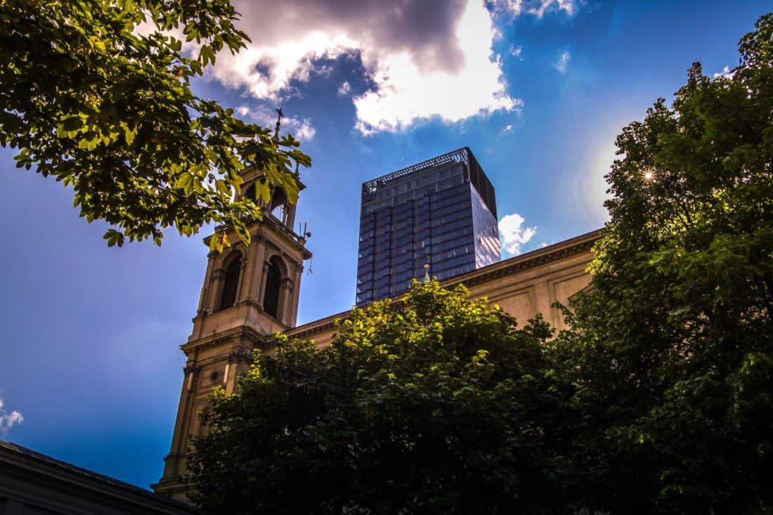 architecture, university, church, palace, tower, blue sky