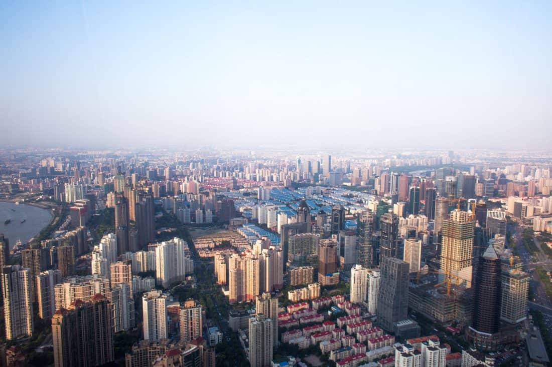 ciudad, paisaje, cielo azul, arquitectura, panorama, centro de la ciudad, urbano, aéreo