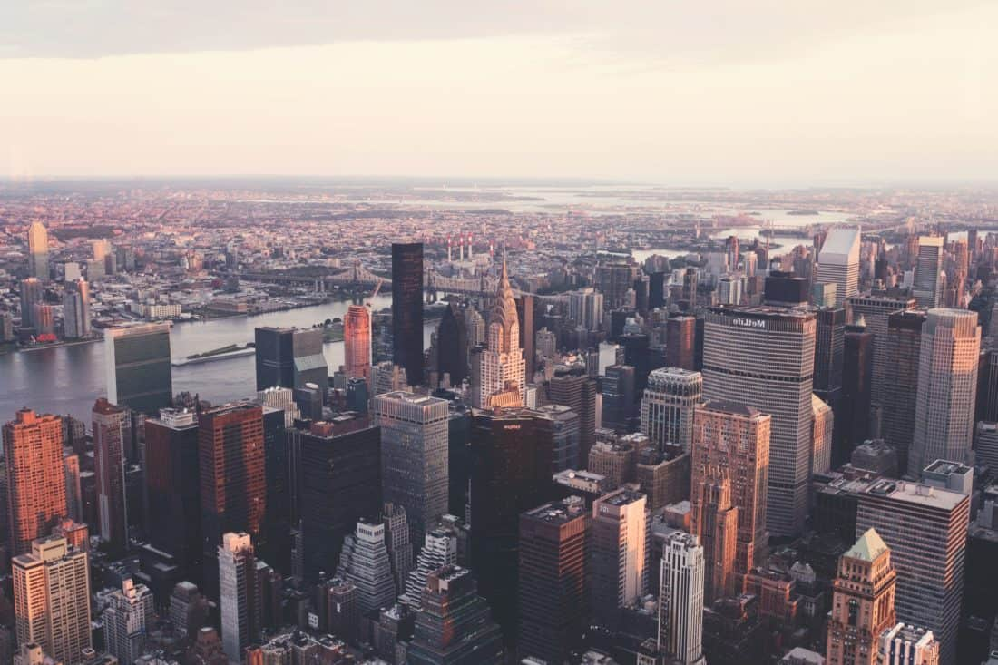 grada, arhitektura, gradski pejzaž, zalazak sunca, zgrada, urbane, centar, neboderi