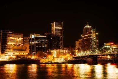 ciudad, arquitectura, paisaje, atardecer, centro de la ciudad, noche, luz, río