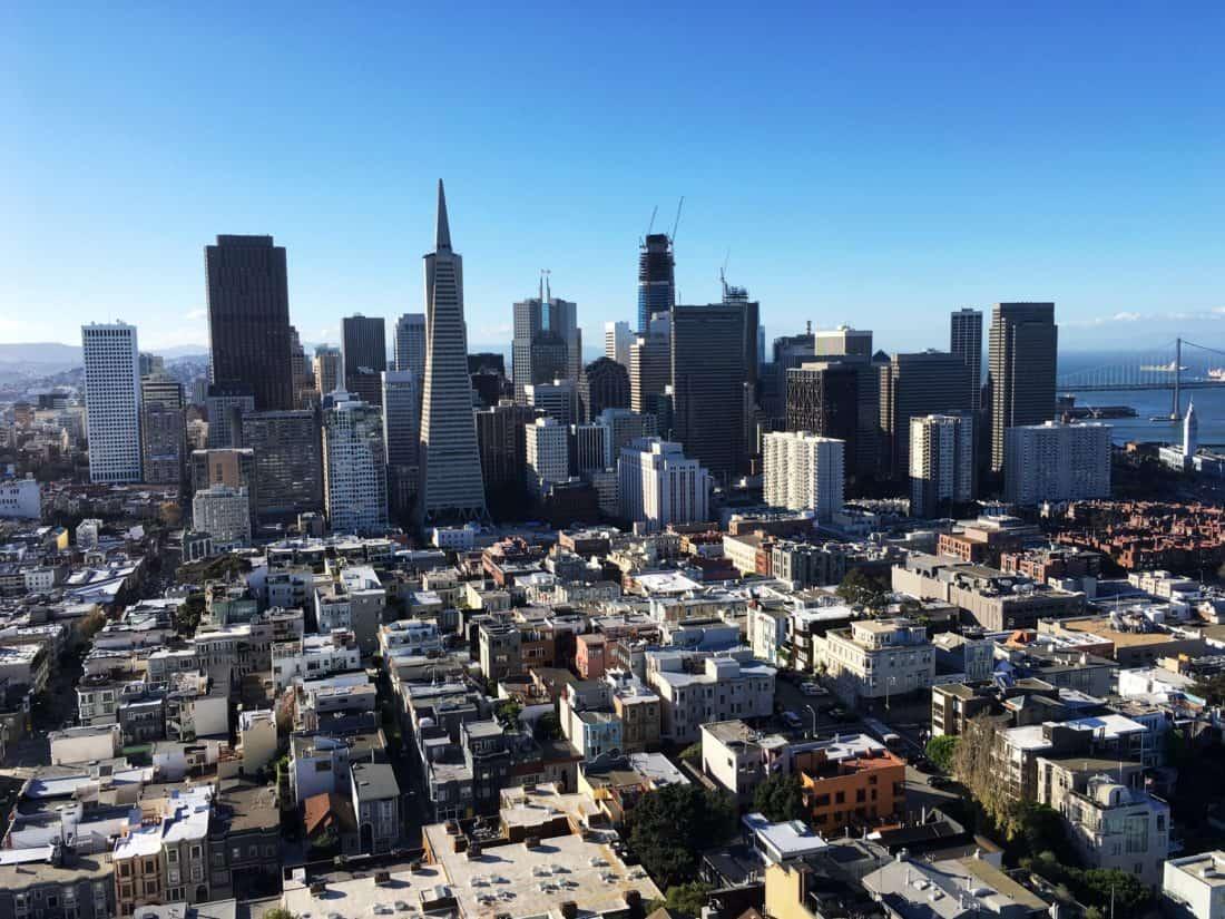 město, panoráma města, města, budovy, modrá obloha, architektura, městská, mrakodrapy