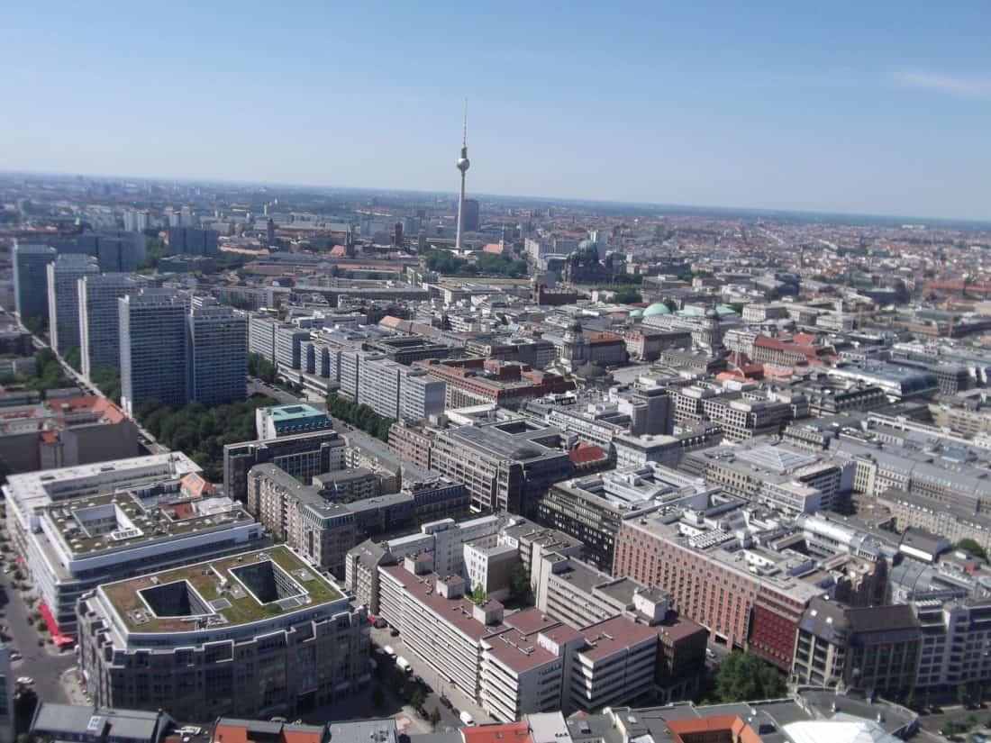 ciudad, paisaje urbano, centro de la ciudad, arquitectura, aéreo, urbano, ciudad, cielo azul