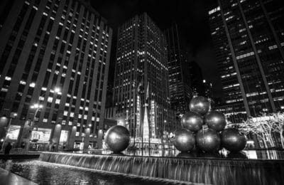 city, architecture, monochrome, downtown, darkness, night
