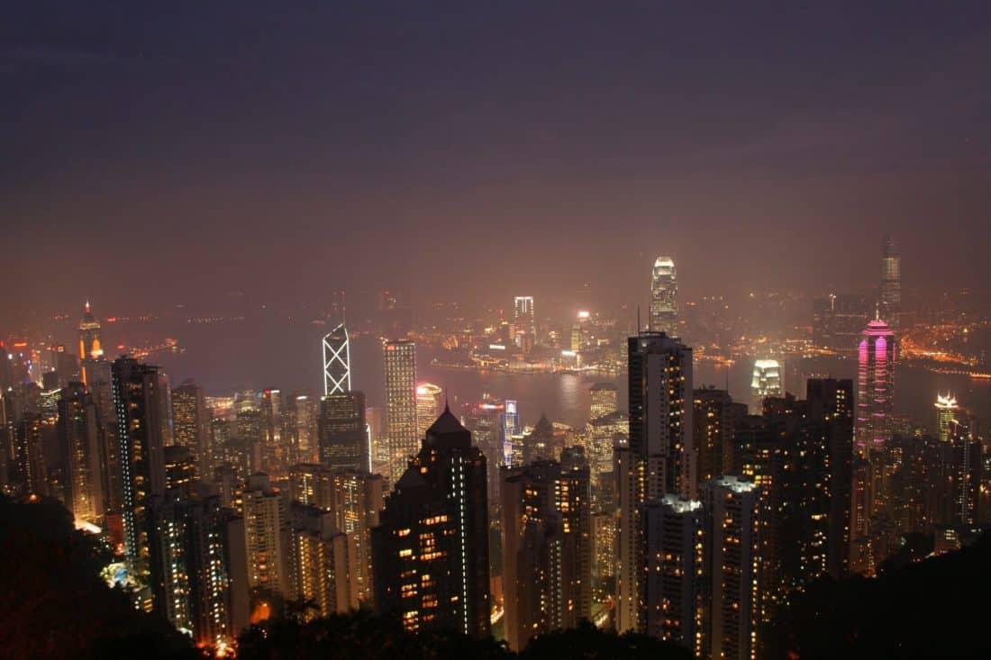 city, downtown, cityscape, building, night, dusk, architecture, urban