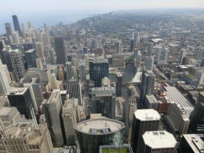 ciudad, paisaje, edificio, panorama, arquitectura, antena, urbano, centro de la ciudad