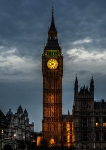 clock, building, London, England, night, architecture, parliament, tower, city, landmark