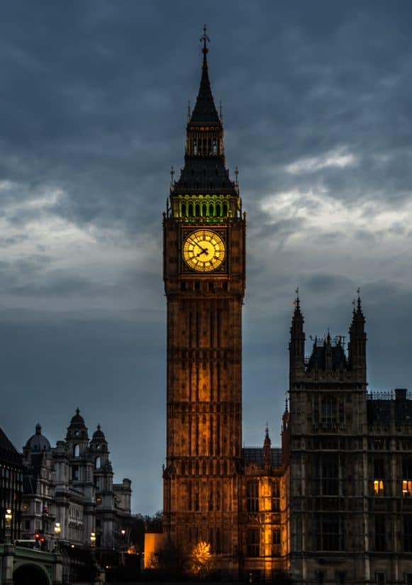 Free picture: clock, building, London, England, night