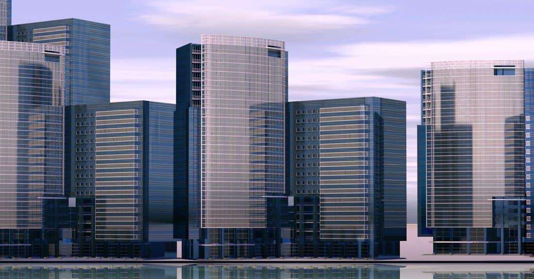 αστικό, σύγχρονος, αρχιτεκτονική, πόλη, κτίριο, στο κέντρο της πόλης, μοντέρνο, αστικό τοπίο