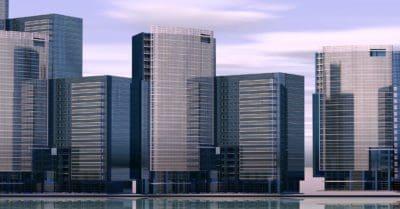 градски, модерни, архитектура, град, сграда, центъра, модерен, градски пейзаж