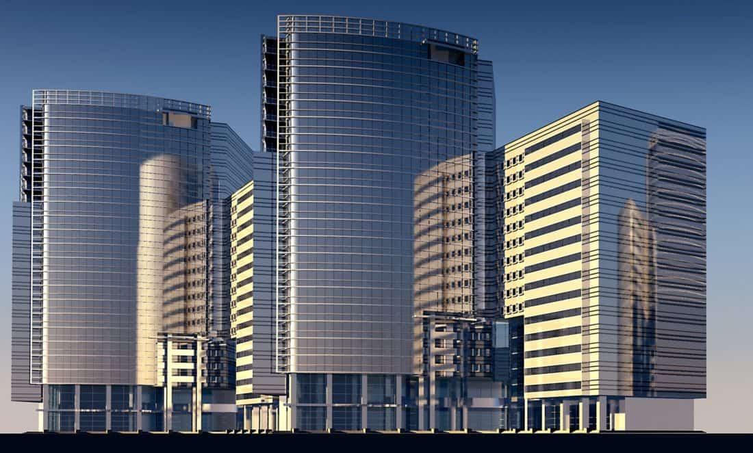 архитектура, строителство, град, модерен, центъра, фасада, екстериор, небе, градски, градски пейзаж