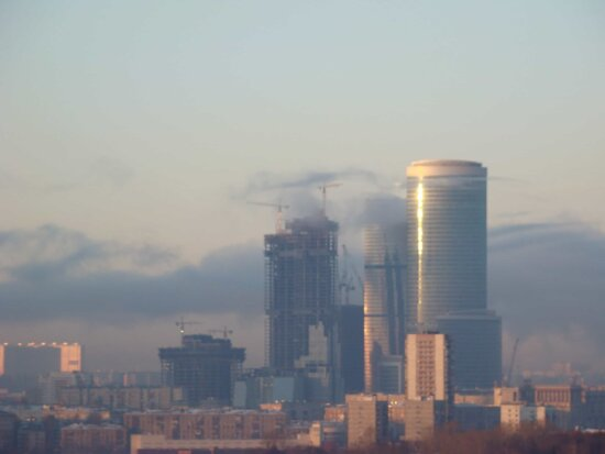 city, smog, building, tower, smog, architecture, pollution, urban, cityscape