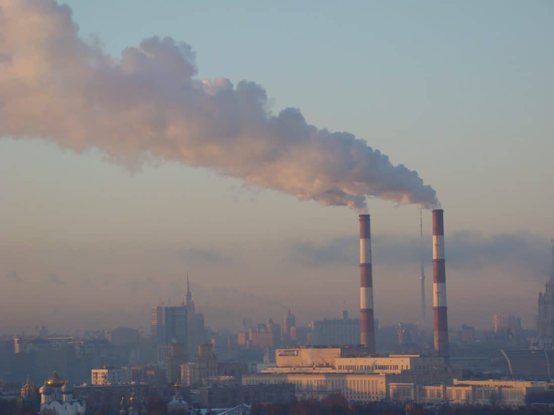 kouř, znečištění, smogu, obloha, tower, kondenzace, průmysl