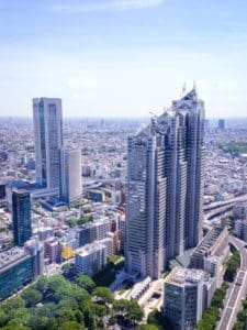 ville, paysage urbain, bâtiment, architecture, tour, ciel bleu, centre ville, urbain et moderne