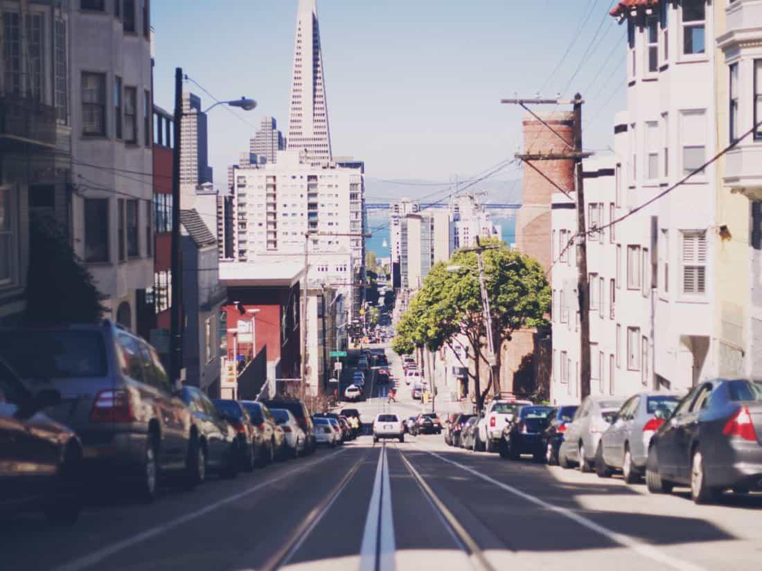 mesto, ulica, road, architektúra, downtown, budovy, mestské, križovatka