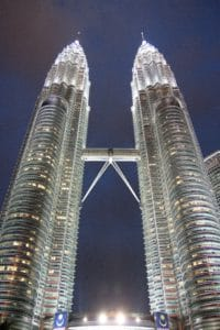 architecture, downtown, landmark, city, night, cityscape, urban, sky, tower, modern