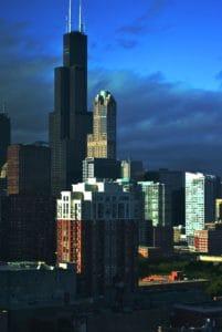 város, építészet, sötétség, felhő, ég, városkép, belvárosi, városi, éjszaka